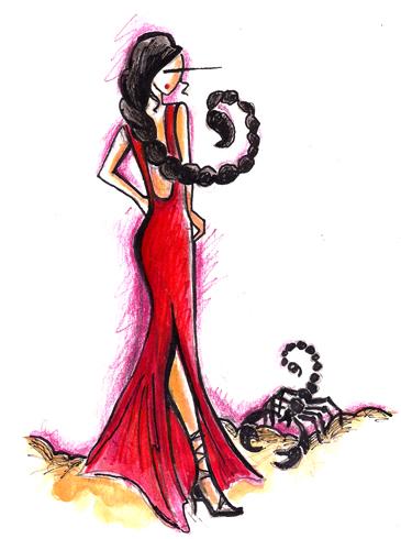 Красивая женщина-скорпион